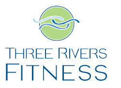 three rivers fitness branding design by shelli - logo, stacked version