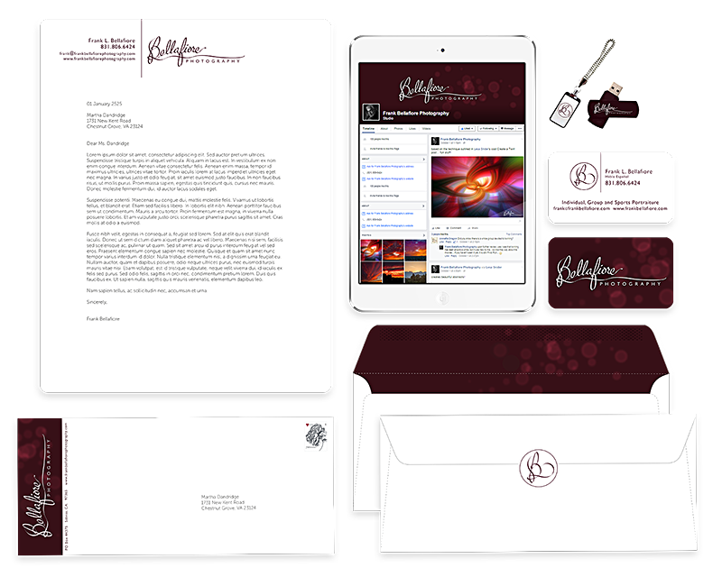 bellafiore photography branding designed by shelli - applied usage overview